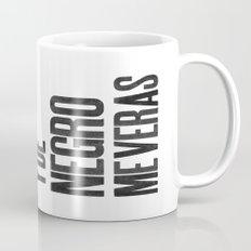 Voy de negro — Letterpress (White) Coffee Mug