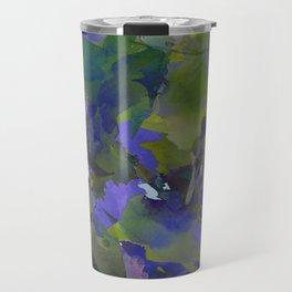 Violet Water Blossoms Travel Mug