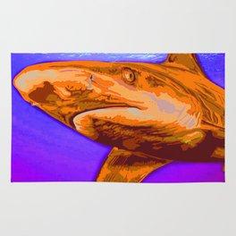 Painted Shark, Orange Rug
