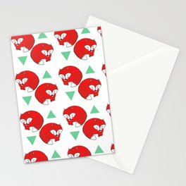 Fox Triangles Stationery Cards