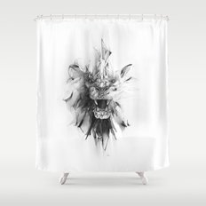 STONE LION Shower Curtain