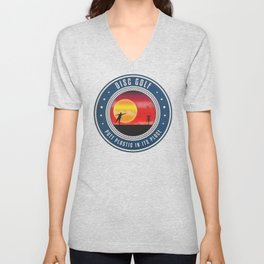 Putt Plastic In Its Place Unisex V-Neck