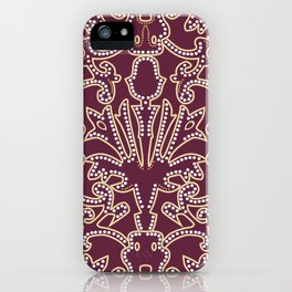 Medieval beautiful Burgundy ornament iPhone Case