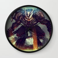 titan Wall Clocks featuring Titan Terrabreaker by Benedick Bana