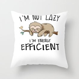 Sloth energy lazy Sleeping Tired sweet gift Throw Pillow