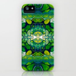 Bright Green Abstract Design Art iPhone Case