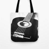 guitar Tote Bags featuring Guitar by Falko Follert Art-FF77