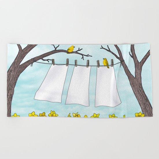 spring clean Beach Towel
