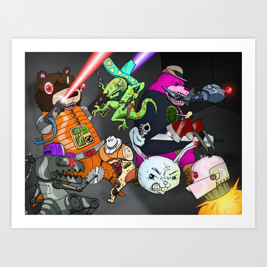 Kill the Robot Duplicates! Art Print