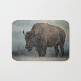 Stormy Day - Buffalo - Wildlife Bath Mat