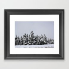 White Forest Framed Art Print