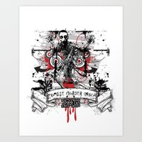 zombie Art Prints featuring Zombie by DaeSyne Artworks