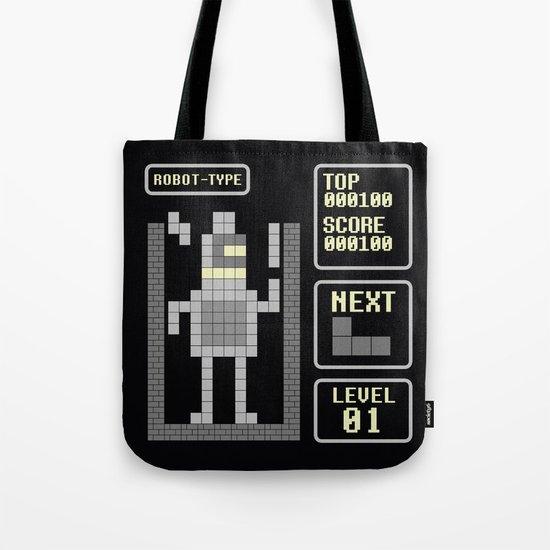 TETRIS: Robot Type Tote Bag