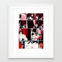gore Framed Art Prints featuring The Gore Gore Girls by Zombie Rust