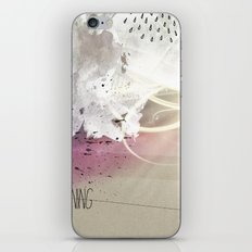out in the rain iPhone Skin