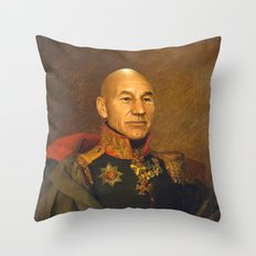 Sir Patrick Stewart - replaceface Throw Pillow