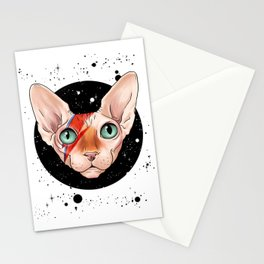 Sphynx Bowie Stationery Cards