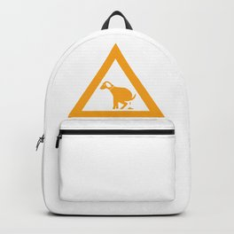 Caution Pooping Dog Backpack