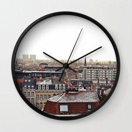 Winter in Brussels Wall Clock