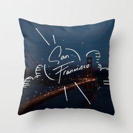 San Francisco Dreamin' Throw Pillow