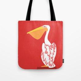 White Pelican Bird - animal graphic Tote Bag