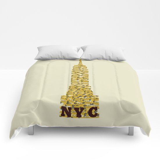 empire state nyc (mini) Comforters