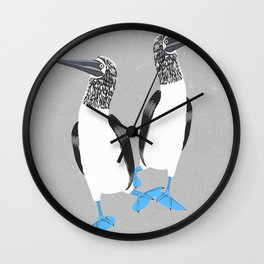 Blue-footed booby Wall Clock