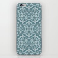 damask iPhone & iPod Skins featuring Damask by Xiao Twins