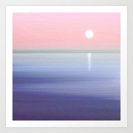 Serene Sun Art Print