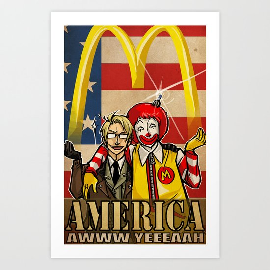 aww yeee america Art Print