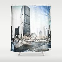 montreal Shower Curtains featuring Montreal Winter by Claudia Lalonde