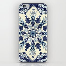 Deconstructed Waves Mandala iPhone Skin