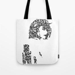Kanji Calligraphy Art :woman's face #24 Tote Bag