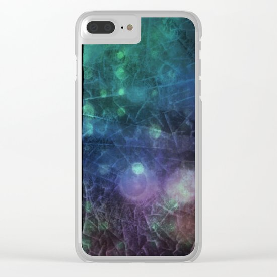 Purple,  Green and Blue Clear iPhone Case