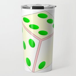 Tumbling Ivory Dice Travel Mug