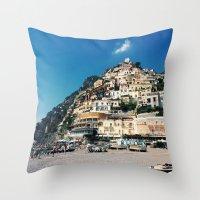 greece Throw Pillows featuring Greece by maargopolo