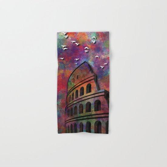 The Coliseum in Colors Hand & Bath Towel