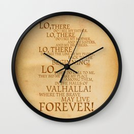 Viking Prayer Wall Clock