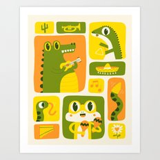 Reptile Music Art Print