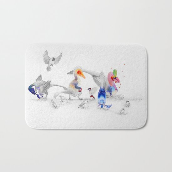 #BirdsAreDinosaurs Bath Mat