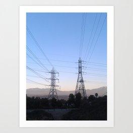 Electric Sky Line Art Print
