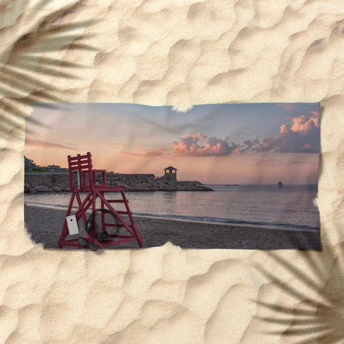 Front Beach After Hours Beach Towel