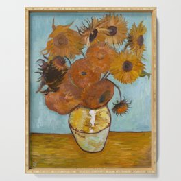 Sunflowers for Amy, a Vincent Van Gogh Copy Serving Tray