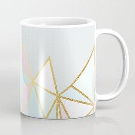 Gold & Pastel Geometric Pattern Coffee Mug