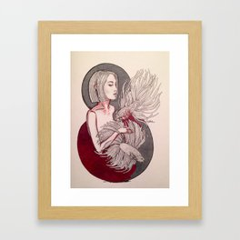 Pisces girl Framed Art Print