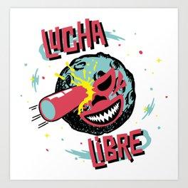 SPACE LUCHADOR Art Print