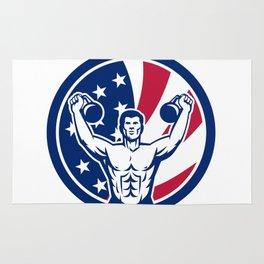 American Physical Fitness USA Flag Icon Rug