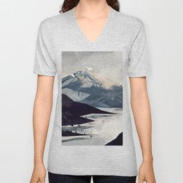 Calming Mountain Unisex V-Neck