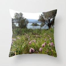 Orchid Field Throw Pillow