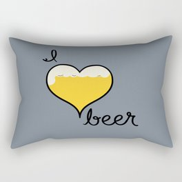 I Love Beer Rectangular Pillow